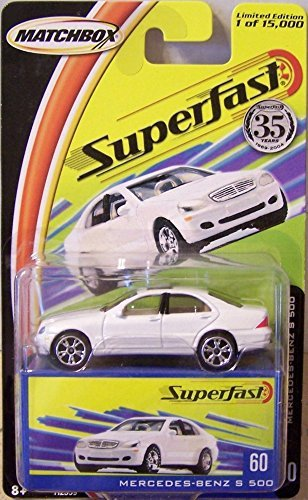 Superfast #60 Mercedes-Benz S 500 In White Diecast 1:64 Scale By Matchbox - Antique Matchbox Cars