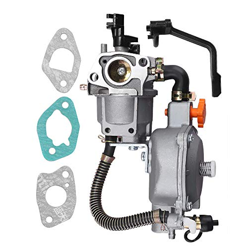Saihisday 170F Dual Fuel Carburetor LPG/NG Conversion Kit for Portable Gasoline Generator GX200 6.5HP 7.5HP ()