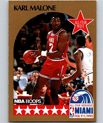 buy popular 8671c 085ab Amazon.com: 1990-91 Hoops #21 Karl Malone SP Jazz AS NBA ...