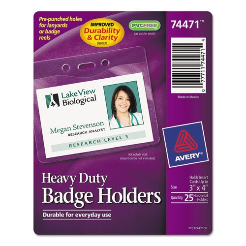 AVE74471 - Avery Secure Top Heavy-Duty Badge - Hanging Elastic Neck Avery