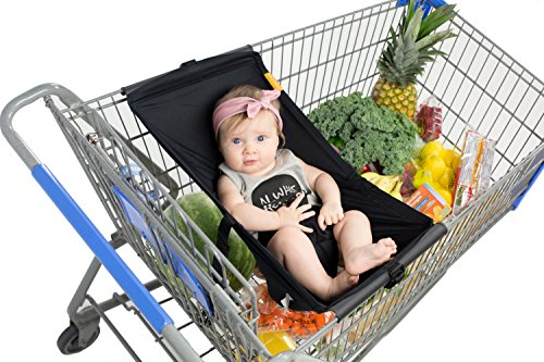 Best Review Of Binxy Baby Shopping Cart Hammock (Black)