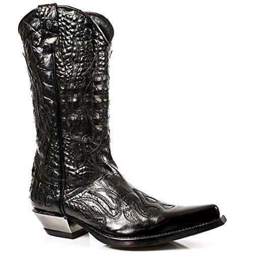 New Rock Boots - Hombre Botas Estilo 7921 S1 Negro