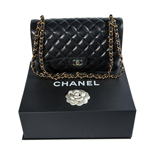 Chanel Women's Black Quilted Leather Shoulder Double Flap - Chanel Shoulder Bag