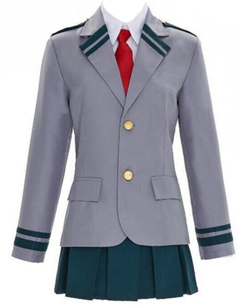 ROLECOS Ochako Uraraka High School Uniform Dress Sets Cosplay Costume Outfit GC(138B- M)