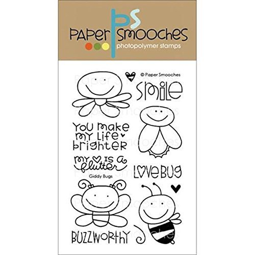 Paper Smooches Clear Stamps, 4 by 6-Inch, Giddy Bugs by Paper Smooches by Paper Smooches
