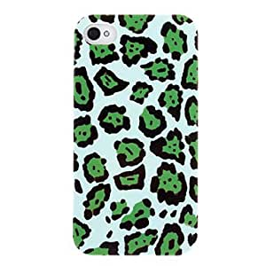 QHY Special Design Green Leopard Print Pattern ABS Back Case for iPhone 4/4S