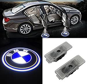 Grolish BMW Easy Installation Car Door LED Logo Projector Ghost Shadow Lights for BMW E39 E52 E53