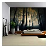 wall26 - Dark and Ominous Forest - Wall Mural, Removable Sticker, Home Decor - 100x144 inches