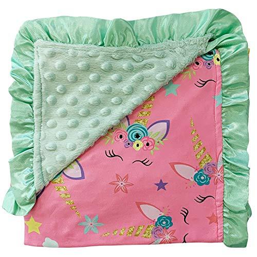 Unicorn Baby Blanket with Silk Trim
