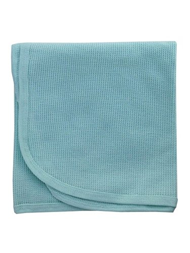 bambini Baby's Mint Thermal Receiving - Thermal Receiving Gerber Blanket