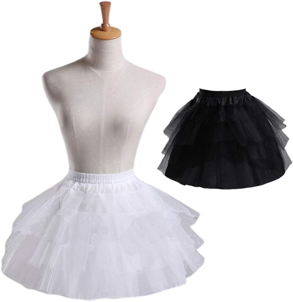 Mikiya Cosplay Maid tragen Petticoat Lolita kurz ohne Ringe Petticoat M/ädchen Ballett Rock Garn Petticoat Petticoat wei/ß
