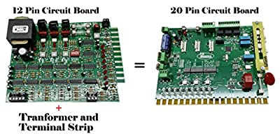 Ramset 12 Pin / Ramset 20 Pin Circuit Board Upgrade for Old Ramset Gate Openers - Upgrated to the Black Board