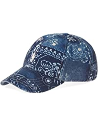 Ralph Lauren Polo Co. Polo Blue Classic Moroccan Tile Chino Baseball Cap fce64aa4d4