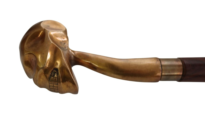 Cráneo bastón de Madera de Oro Palo Manejar Estilo Antiguo ...