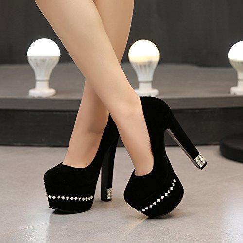 De En Y Otoño KHSKX Con Tacones Zapatos BrutoBlackTreinta Altos Nuevo Cuatro Estilo Oxxq0Uf