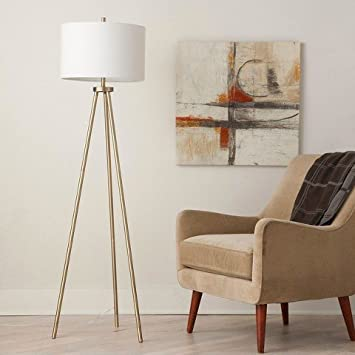 Tripod Floor Lamp - Antique Brass - ThresholdTM - - Amazon.com