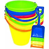 "Amscan Fun Filled Summer Pail and Shovel Party Activity (Pack of 1), Multicolor, 9""/Large"