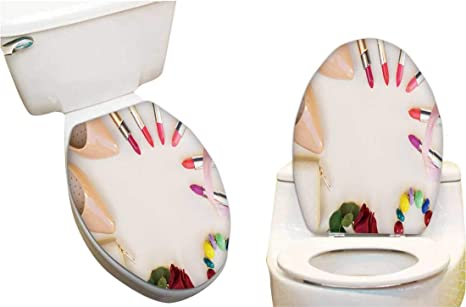 Phenomenal Toilet Seat Decal Nude Colore High Heels Lipsticks Wallet Caraccident5 Cool Chair Designs And Ideas Caraccident5Info