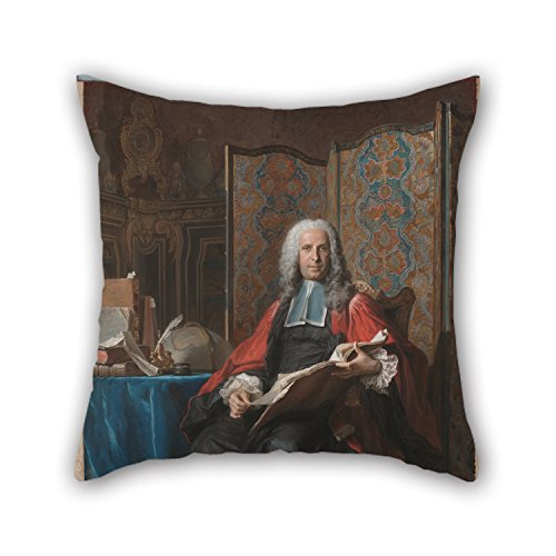 16 X 16 Inches / 40 By 40 Cm Oil Painting Maurice-Quentin De La Tour (French - Portrait Of Gabriel Bernard De Rieux Cushion Covers,2 Sides Is Fit For Car,couples,study Room,indoor,kids Girls,home