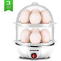 Egg Cooker,350W Electric Egg Maker,White Egg Steamer,Egg Boiler,14 Egg Capacity Egg Cooker With Automatic Shut Off (White)