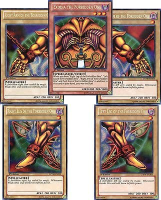 Complete Five Card Set YuGiOh Exodia The Forbidden One