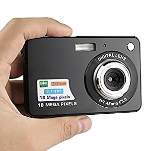 HD Mini Digital Camera with 2.7 Inch TFT LCD Display, Digital Video Camera Sports, Travel, Outdoor, Camping, Birthday Gift by Molylove