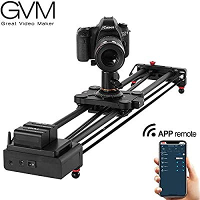 Image of Camera Supports & Stabilizers GVM Wireless Motorized Camera Slider Camera Dolly Electronic Video Slider Auto Loop Track System Shooting Equipped with Bluetooth Controller Tracking Shooting