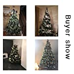 Senjie-Artificial-Christmas-Tree-6775Foot-Flocked-Snow-Trees-with-Pine-Cone-Decoration-Unlit