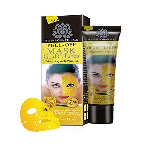 MIXSight 24K Gold Collagen Peel off Mask Face Lifting Firming Skin Anti Wrinkle Anti Aging Facial Mask Face Care Whitening Skin Care mask(4.22 (Cold Peel)