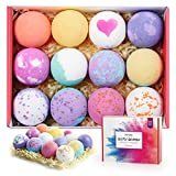 homasy bath bombs, bath bomb gift set, 12 packs fizzies body moisturize, perfect for bubble & spa