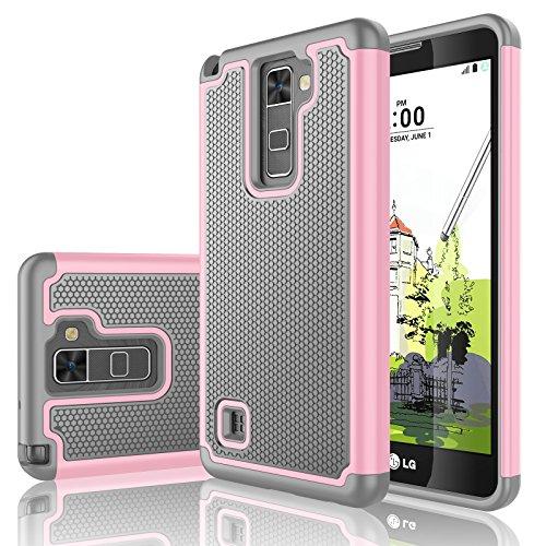 release date 9ba25 3f063 LG Stylo 2 Case, LG Stylus 2/Stylo 2V Case, Tekcoo [Tmajor Series] [Baby  Pink] Shock Absorbing Hybrid Rubber Plastic Impact Defender Rugged Slim  Hard ...