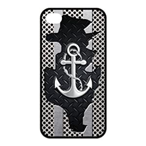 Anchor Protective Rubber Printed Cover Case for iPhone 4,iPhone 4s Cases for Guys