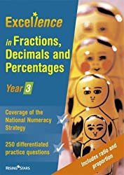 Excellence in Fractions, Decimals and Percentages by Jane Bovey (2004-06-01)
