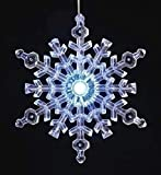 Pack of 4 Large Lighted LED Snowflake Christmas Window Decorations 22.25""