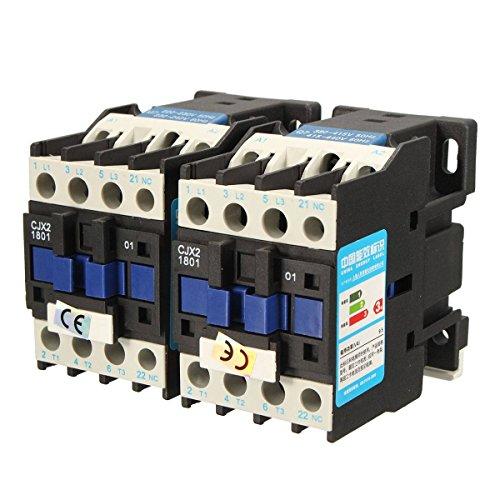 - Starter Relay - Starter Relay Kit - CJX2-1801 AC 220V/380V 18A Contactor Motor Starter Relay 3 POLE+1NC COIL 4KW 7.5KW - 380V (Starter Motor Relay)