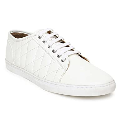 Peachy Couch Potato Quilted Solid White Mens Sneakers Buy Online Gamerscity Chair Design For Home Gamerscityorg