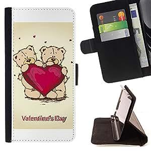 For LG G2 D800,S-type Día de San Valentín- Dibujo PU billetera de cuero Funda Case Caso de la piel de la bolsa protectora