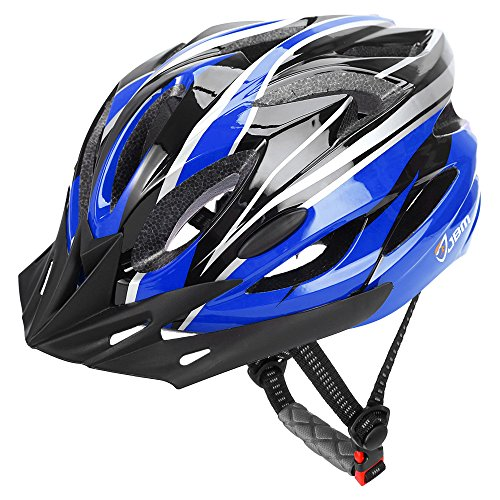 Silver Small Helmet - JBM Adult Cycling Bike Helmet Specialized for Men Women Safety Protection CPSC Certified (18 Colors) Black/Red / Blue/Pink / Silver Adjustable Lightweight Helmet with Reflective Stripe and Remova