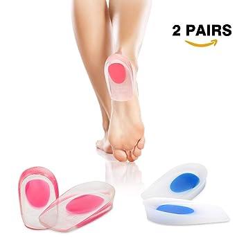 Gel Fersenkissen Schuheinlagen aus Medizinischem Silikon Geleinlagen 1 Paar Fersensporn Einlagen Gelkissen Fersensporn Fersenpolster