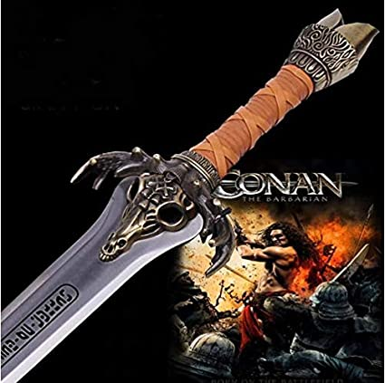 """38"""" Heavy Conan the Barbarian Father/'s Sword with wall plaque new"""