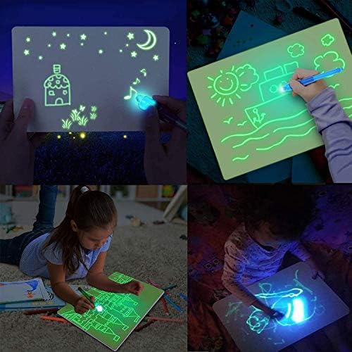 Pizarra de juguete para dibujar con luz de Magwei, almohadilla de ...