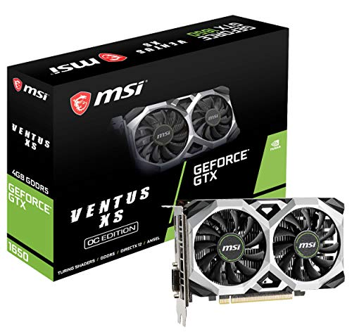 MSI Gaming GeForce GTX 1650 128-Bit HDMI/DP 4GB GDRR5 HDCP Support DirectX 12 VR Ready OC Graphics Card (GTX 1650 Ventus…