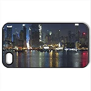 New-YoCase For Iphone 6 4.7Inch Cover (Skyscrapers Series, Watercolor style, Black)