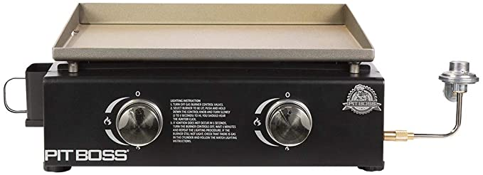 PIT BOSS PB336GS 2 Burner Table Top - Best Griddle With a Pre-Seasoned Cooking Surface