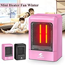 500W Electric Space Heater Portable Home Office Winter Warmer Fan Air Heating
