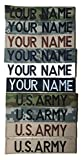 Customized Name Tape with Fastener or Sew On ACU Multicam OCP Black ABU OD Green Desert Tan NavyBlue Custom US ARMY USAF USMC POLICE CivilAirPatrol Tape Customized
