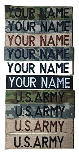JSM Auto Customized Name Tape, with Fastener or Sew-On, ACU Multicam OCP Black ABU OD Green Desert Tan NavyBlue - Custom - US Army USAF USMC Police CivilAirPatrol Tape, Customized