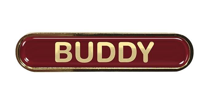 Capricornone Digital Leader Gel Domed School Bar Badge Burgundy