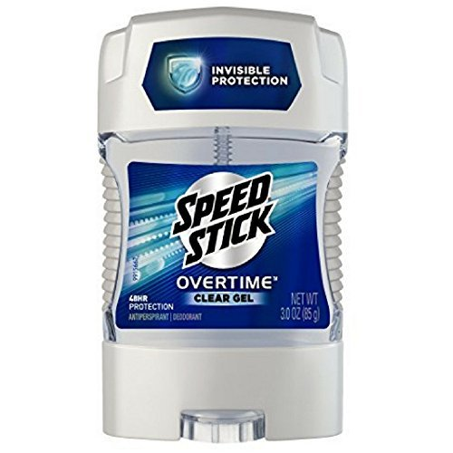 Speed Stick Overtime Clear Gel Antiperspirant Deodorant, 3.0 oz (Pack of 6)