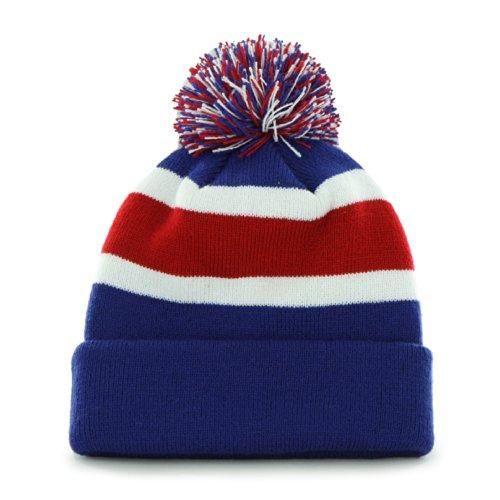 ('47 Buffalo Bills Blue Cuff Breakaway Beanie Hat with Pom - NFL Cuffed Winter Knit Toque)